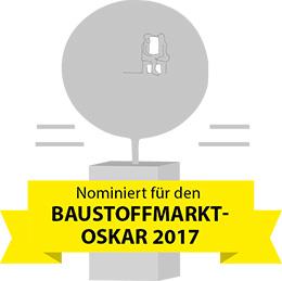 Nominiert für den BAUSTOFFMARKT-OSKAR 2017