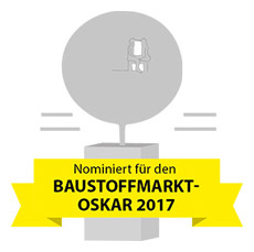 Nominiert für den Baustoffmarkt Oskar 2017
